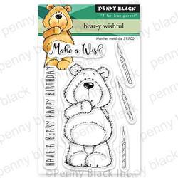 Bear-y Wishful, Penny Black Clear Stamps -