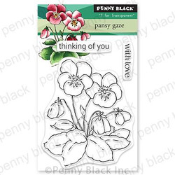 Pansy Gaze, Penny Black Clear Stamps -