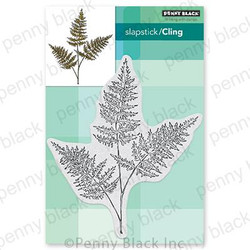 Fresh Fern, Penny Black Cling Stamps -