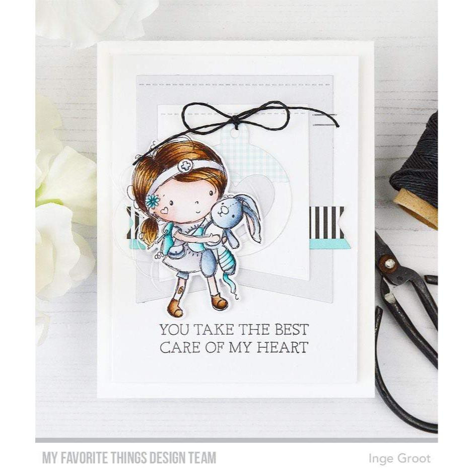 Care of My Heart by Rachelle Anne Miller, My Favorite Things Clear Stamps -