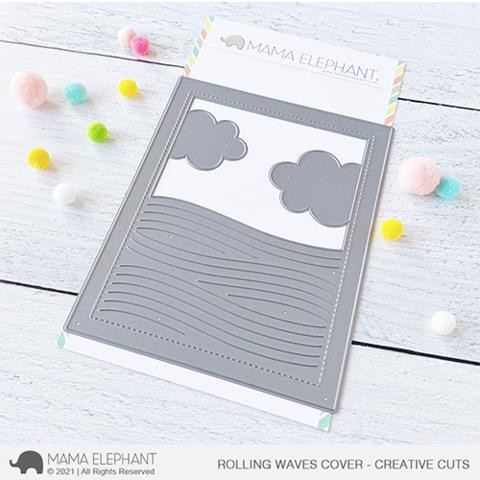Rolling Waves Cover, Mama Elephant Creative Cuts -