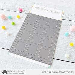 Lift Flap Grid, Mama Elephant Creative Cuts -