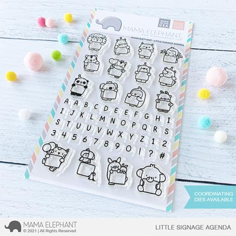 Little Signage Agenda, Mama Elephant Clear Stamps -