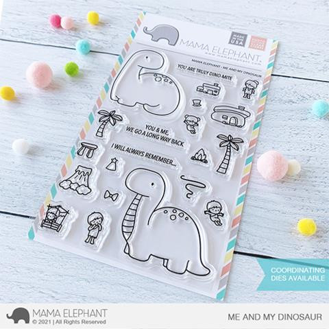 Me and My Dinosaur, Mama Elephant Clear Stamps -