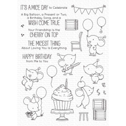 Mice Day to Celebrate by Birdie Brown, My Favorite Things Clear Stamps -