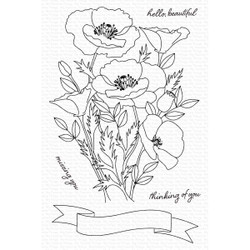 Wild Poppies, My Favorite Things Clear Stamps -