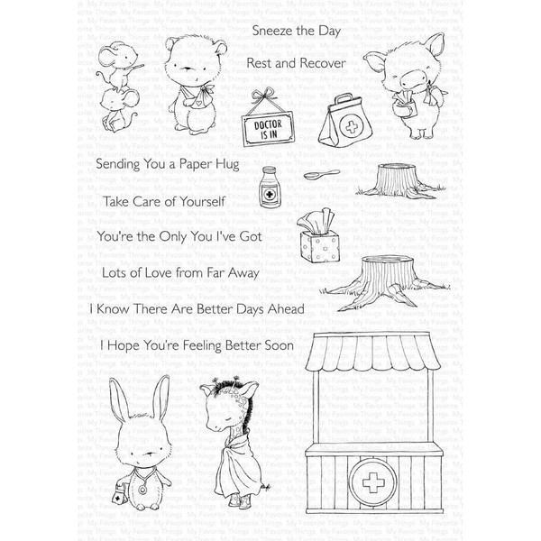 Feel Better by Stacey Yacula, My Favorite Things Clear Stamps -