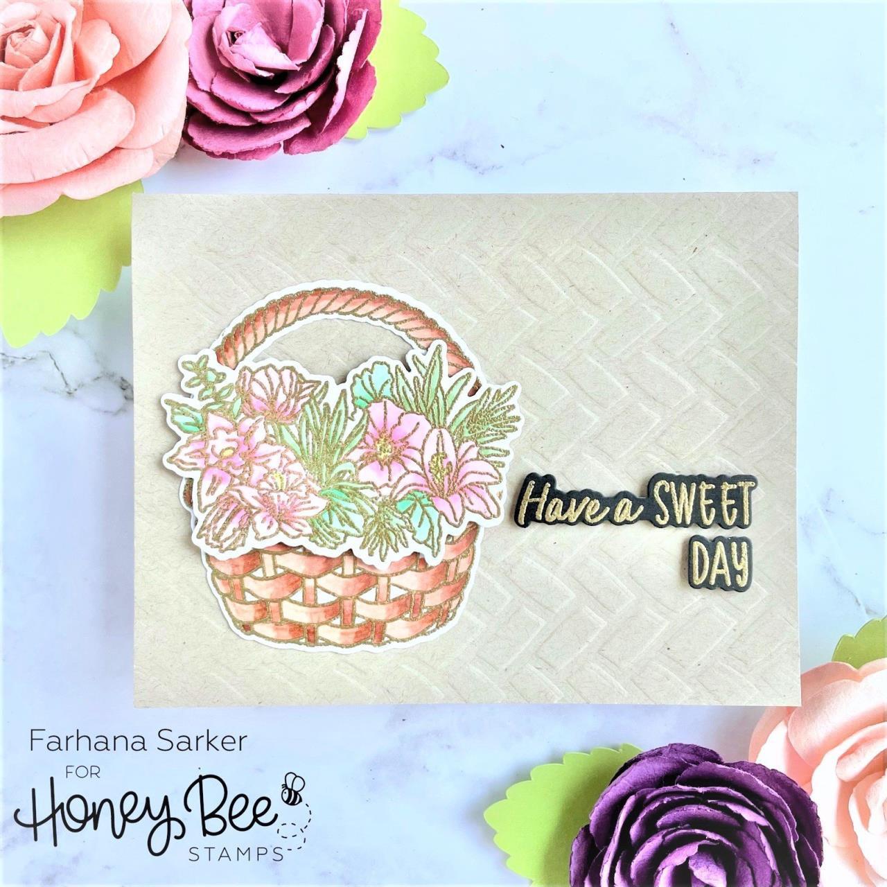 Basketweave Background, Honey Bee Stencils -
