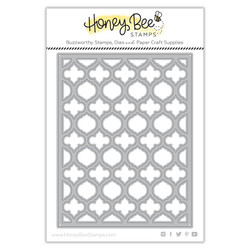 Quatrefoil A2 Cover Plate - Top, Honey Cuts Dies -