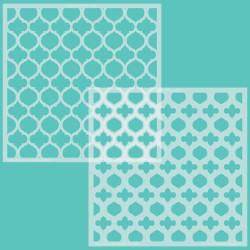 Quatrefoil Layers, Honey Bee Stencils -