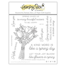 Spring Joy Bouquet, Honey Bee Clear Stamps -