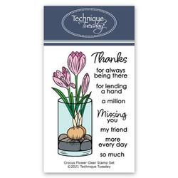 Crocus Flower, Technique Tuesday Clear Stamps -
