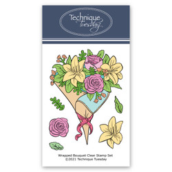 Wrapped Bouquet, Technique Tuesday Clear Stamps -