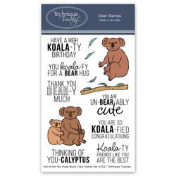 Ken & Kiki the Koala Bears, Technique Tuesday Clear Stamps -