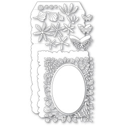 Fern and Daisy Pop Up Easel Set, Poppystamps Dies -