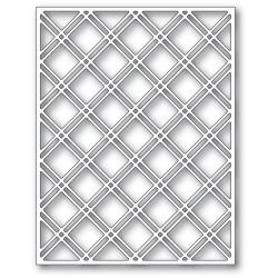 Double Diamond Lattice Plate, Poppystamps Dies -
