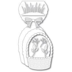 Woven Basket Pop Up Easel Set, Poppystamps Dies -