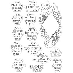 Diamond Sentiments, Poppystamps Clear Stamps -