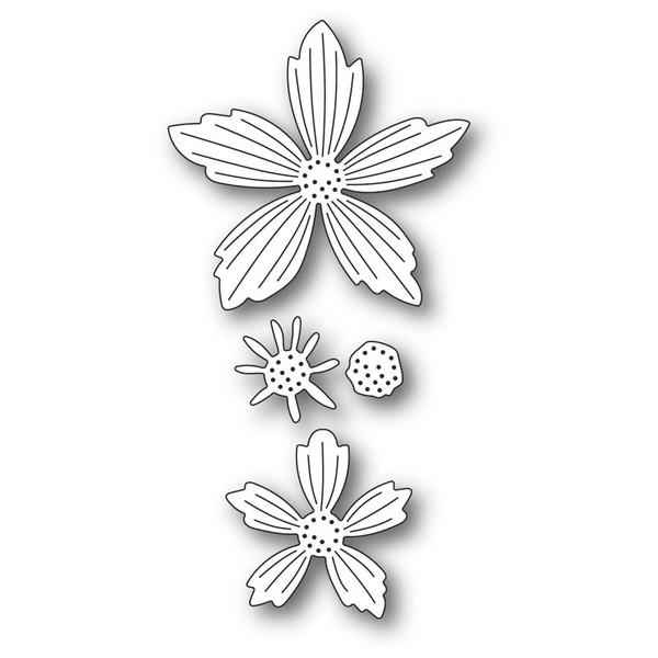 Layered Fresh Flowers, Memory Box Dies -