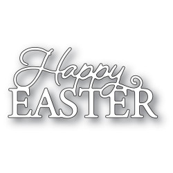 Happy Easter Posh Script, Memory Box Dies -