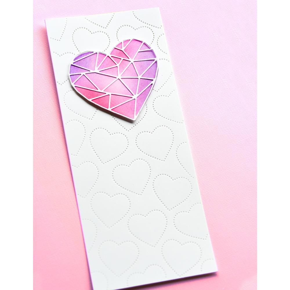 Slim Pinpoint Heart Plate, Memory Box Dies -