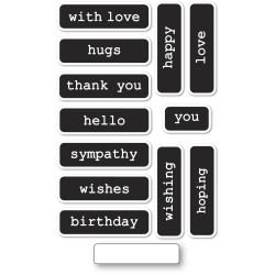 Big and Little Reverse Words, Memory Box Clear Stamps -