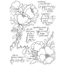 All the Happiness, Memory Box Clear Stamps -