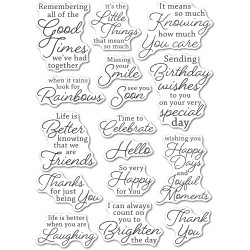 Joyful Moments, Memory Box Clear Stamps -
