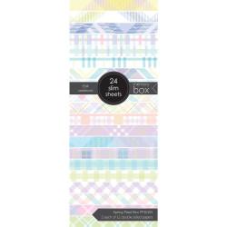 Spring Plaid Slim, Memory Box Paper Pad -