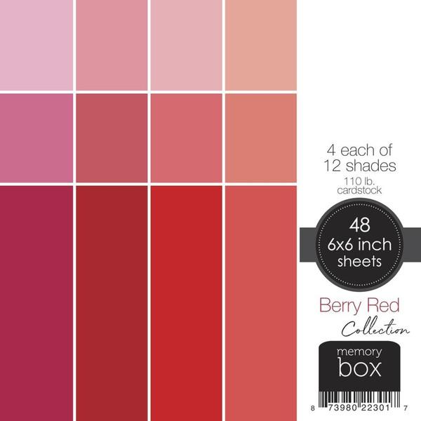 Berry Red, Memory Box 6 X 6 Paper Pad -