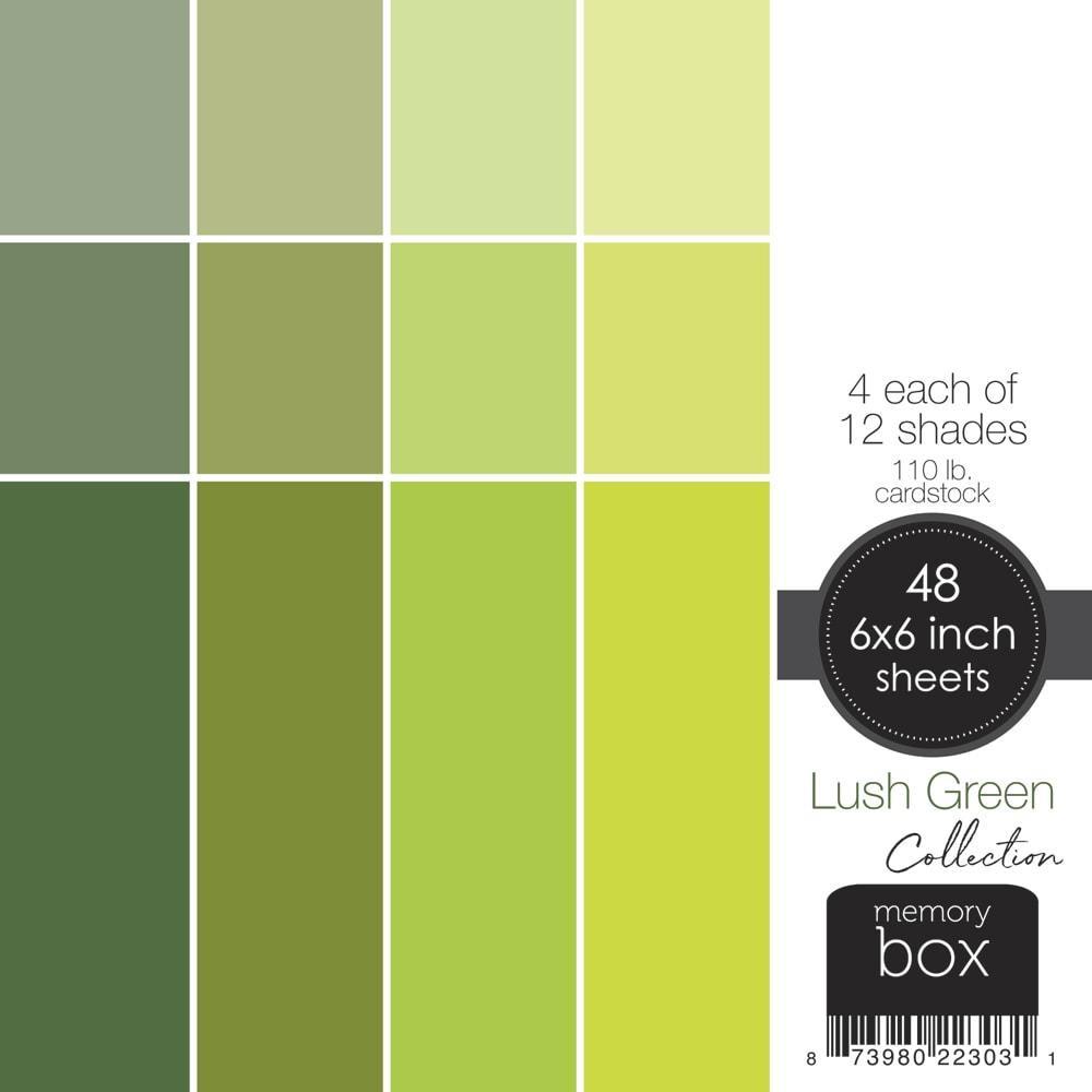 Lush Green, Memory Box 6 X 6 Paper Pad -