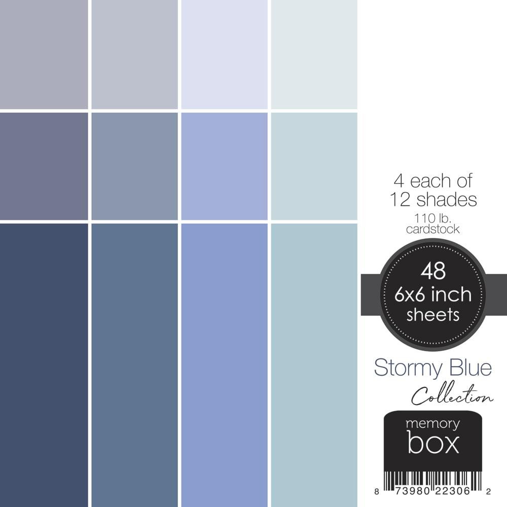 Stormy Blue, Memory Box 6 X 6 Paper Pad -