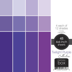 Twilight Purple, Memory Box 6 X 6 Paper Pad -