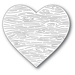Woodgrain Heart, Memory Box Dies -