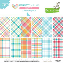 Perfectly Plaid Remix, Lawn Fawn Collection Pack -