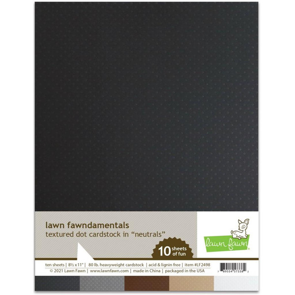 Textured Dot Cardstock - Neutrals, Lawn Fawn Cardstock -