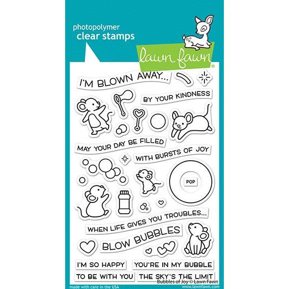 Bubbles of Joy, Lawn Fawn Clear Stamps -