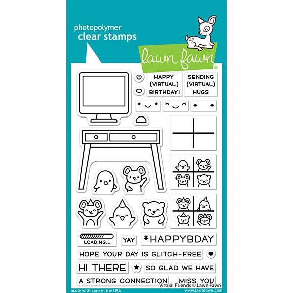 Virtual Friends, Lawn Fawn Clear Stamps -