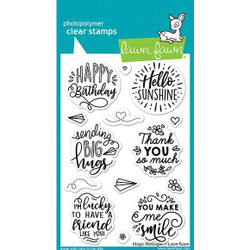 Magic Messages, Lawn Fawn Clear Stamps -