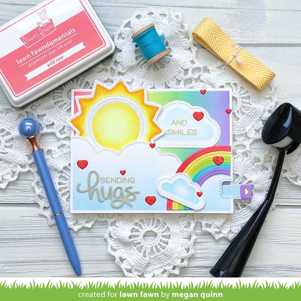 Long Distance Hugs, Lawn Fawn Clear Stamps -