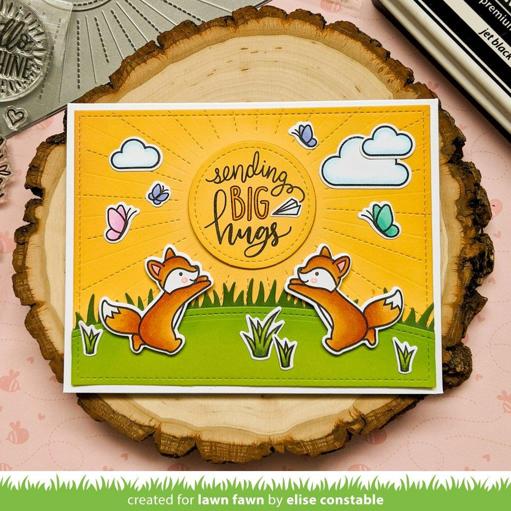 Butterfly Kisses Flip-Flop, Lawn Fawn Clear Stamps -