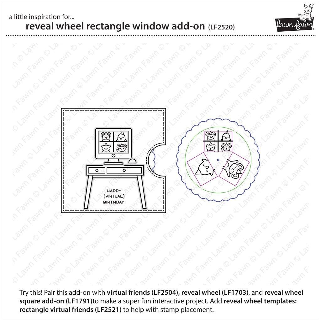 Reveal Wheel Rectangle Window Add-On, Lawn Cuts Dies -