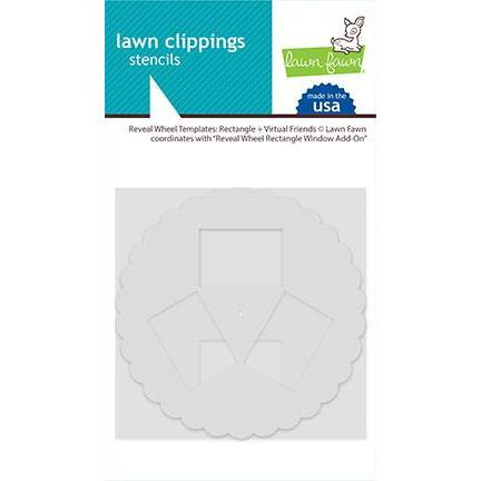Reveal Wheel Templates: Rectangle + Virtual Friends, Lawn Fawn Stencils -