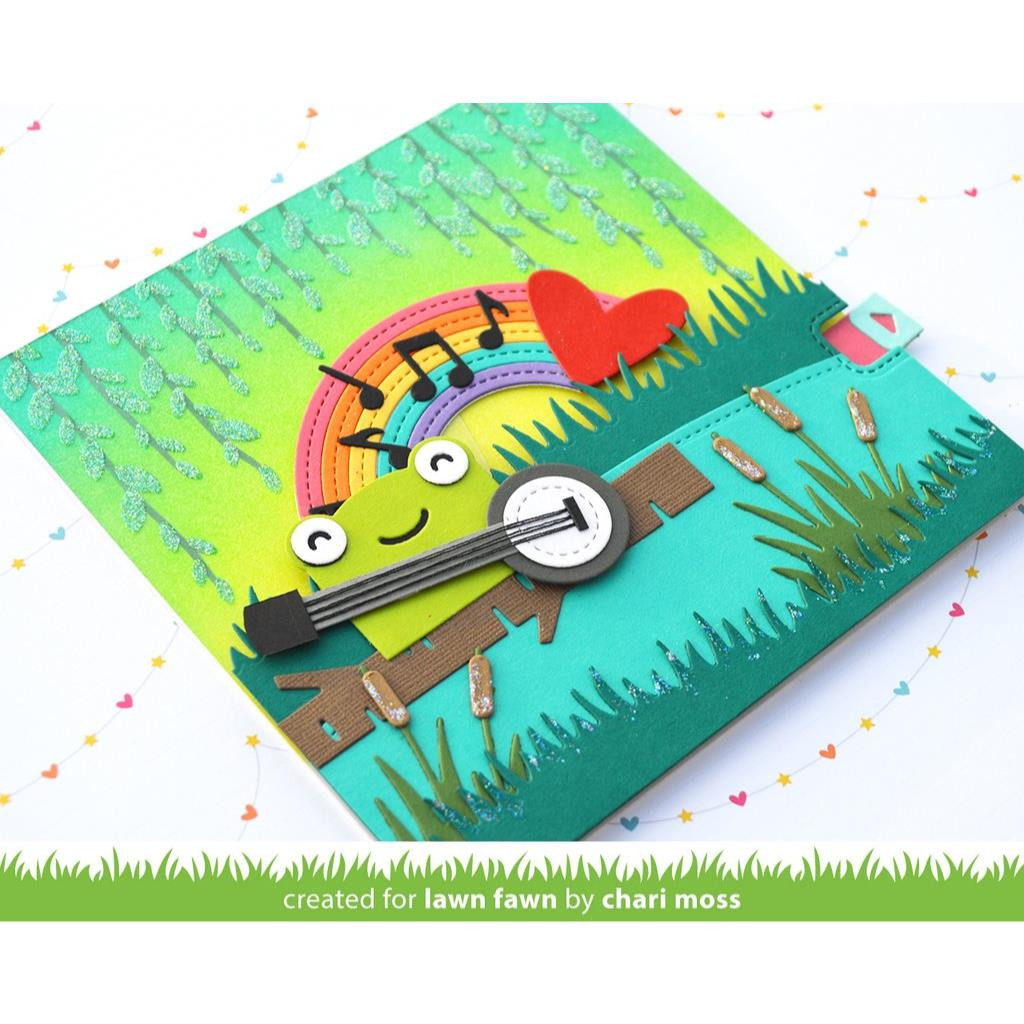 Tiny Gift Box Frog Add-On, Lawn Cuts Dies -