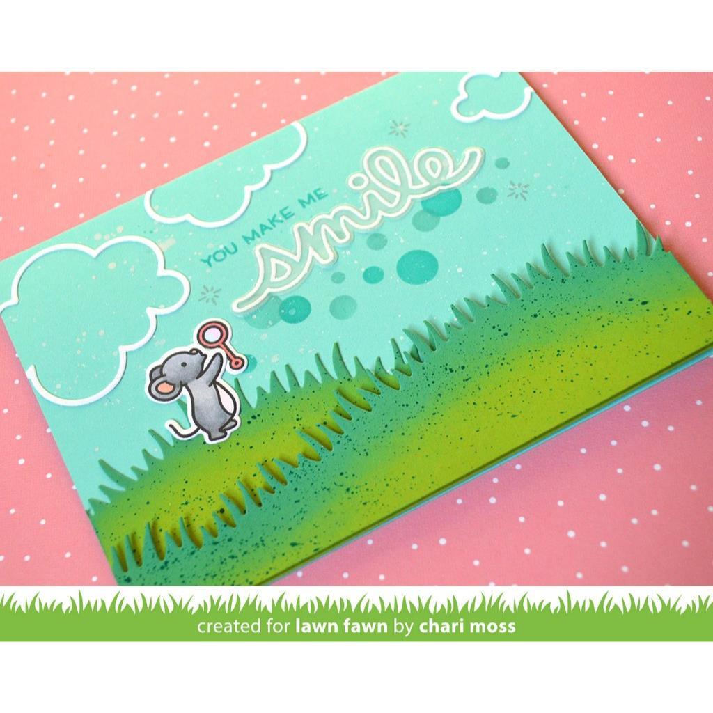 Bubbles, Lawn Fawn Stencils -