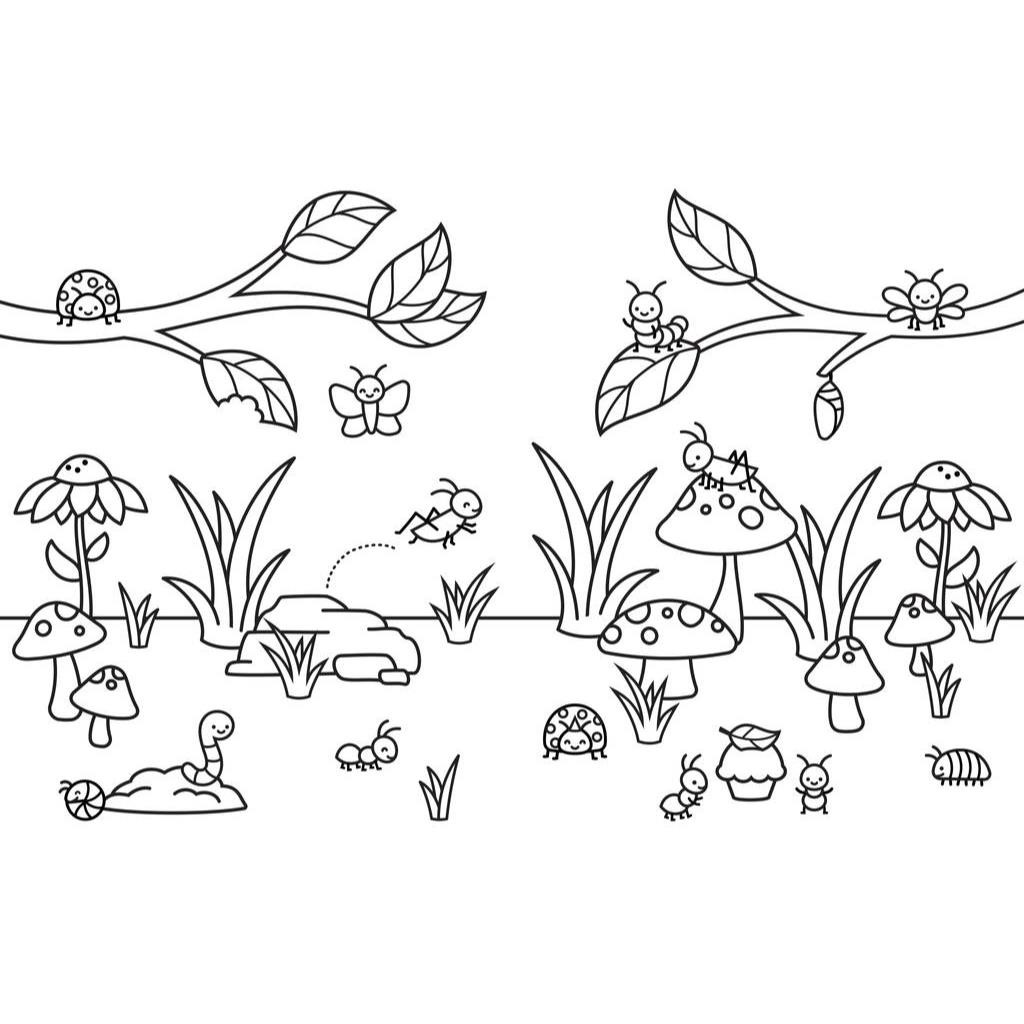 Spring Coloring Book, Lawn Fawn -