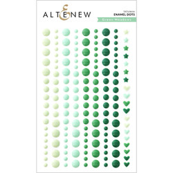 Green Meadows, Altenew Enamel Dots -