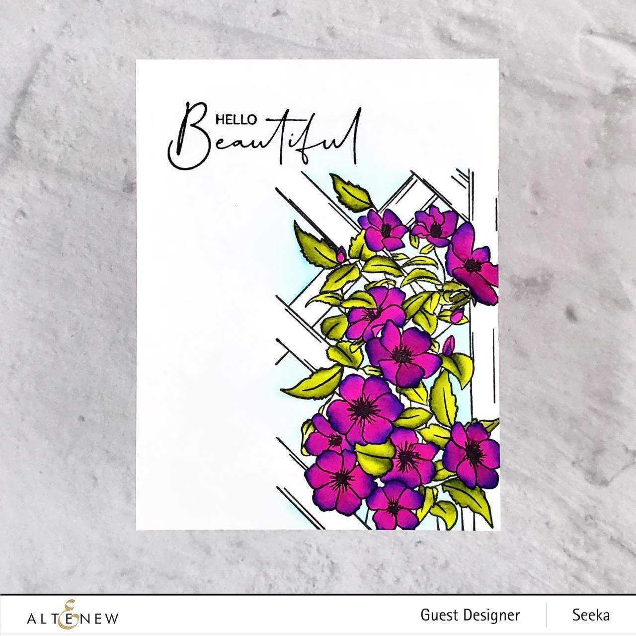 Paint-A-Flower: Clematis Outline, Altenew Clear Stamps -