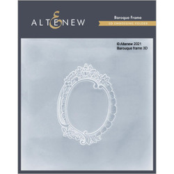 Baroque Frame 3D, Altenew Embossing Folder -