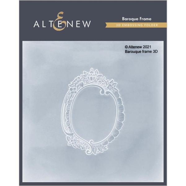 Baroque Frame 3D, Altenew Embossing Folder -